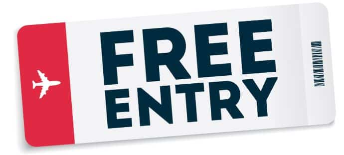 Free Entry Ticket
