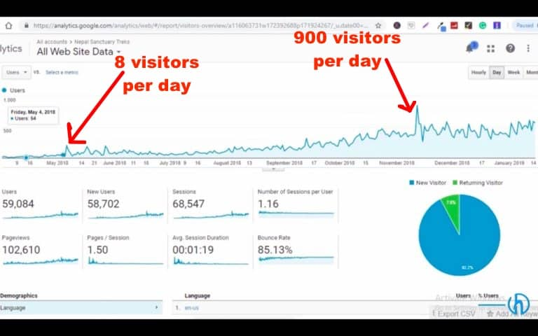 Case Study: How we grew website traffic by 10,000% in 8 months